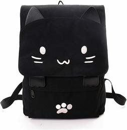 Brand New Cute Canvas Embroidered Cat Print Backpack Travel