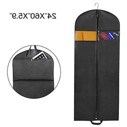 "Zilink Breathable 60"" Suit Dress Black Garment Bag for Trave"