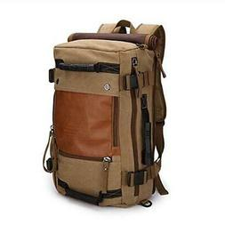 Ibagbar Canvas Backpack Travel Bag Hiking Bag Camping Bag Ru