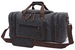 Canvas Duffel Bag, Aidonger Vintage Canvas Weekender Bag Tra
