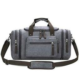 Toupons Canvas Duffel Bag Small Carry-on Bag Overnight Bag W