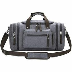 Toupons Canvas Duffel Bag Small Carry-on Overnight Weekender