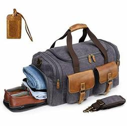 Kemy's Canvas Duffle Bag Mens Oversized Overnight Bags for M