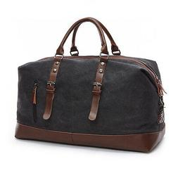 Canvas Leather Men Travel Bags Luggage Bags Duffel Bags Trav