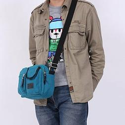 Canvas Leather Travel Bag Duffle Tote Bag Carry-On Shoulder