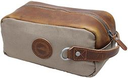 canvas toiletry bag leather shaving