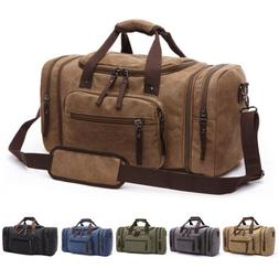 Canvas Travel Tote Luggage Large Men's Weekend Gym Shoulder
