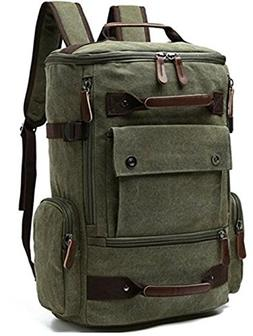 Ulgoo Canvas Vintage Backpack Casual Bookbag Laptop Backpack