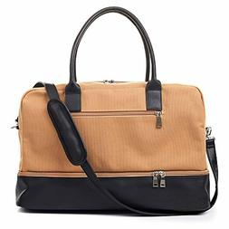 MyMealivos Canvas Weekender Bag, Overnight Travel Carry On D