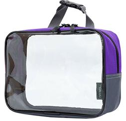 Clear Travel Toiletry Bag, TSA 3-1-1 Cosmetic Bag, Quart Siz