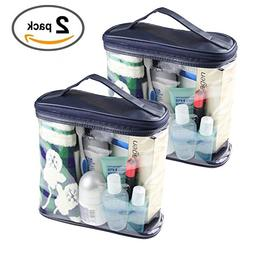 HOYOFO Clear Toiletry Travel Bag PVC Makeup Bags Accessories
