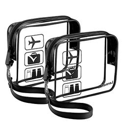 Lermende Clear Toiletry Bag TSA Approved Travel Airport Airl