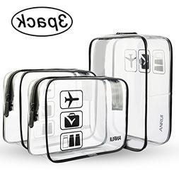 ANRUI Clear Toiletry Bag TSA Approved Travel Carry On Airpo