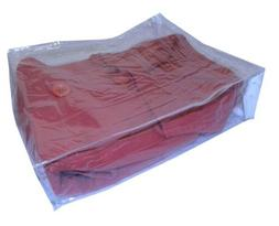 Clear Vinyl Zippered Storage Bags in Various Sizes for Beddi