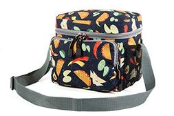 Everest Cooler/Lunch Pattern Bag Travel Tote, Tacos, One Siz