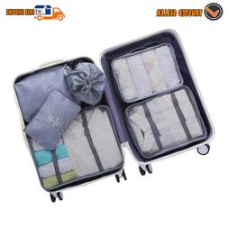 dark gray 6 pcs luggage packing organizers