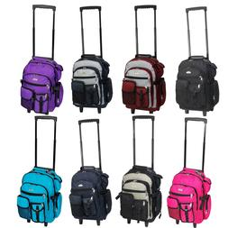 """Everest Deluxe Wheel Backpack Rolling 18"""" Carry on Travel Lu"""