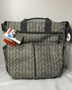 Infant Skip Hop 'Duo Double Signature' Diaper Bag - Grey