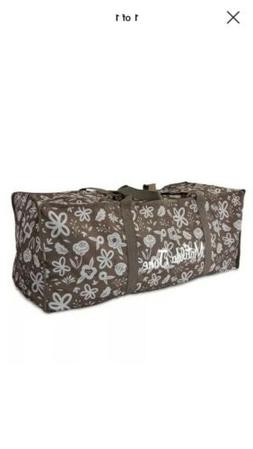 "Matilda Jane Duffel Travel Bag Brown Durable Storage Camp XXL Duffle 35/"" NEW"