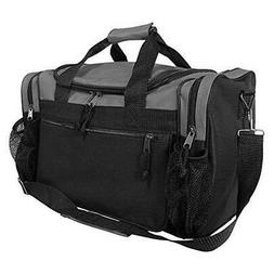 "DALIX 17"" Duffle Bag Front Mesh Pockets in"