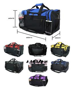 Duffle Duffel Bag Sport Travel Carry-On Workout Gym Red Blac