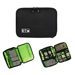 Electronics Organizer, Softcloudy Portable Double Layers Ele