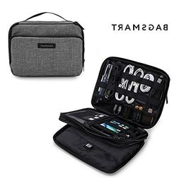 BAGSMART 3-layer Travel Electronics Cable Organizer Bag for