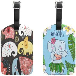 ALAZA Elephant Bag Luggage Tag Pack Business Baggage Suitcas