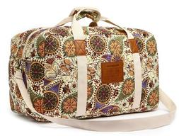 Fashion Canvas Travel Duffel Bag Floral weekender Bag for Wo