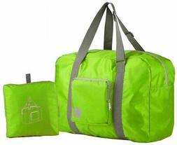 Wandf Foldable Travel Duffel Bag Luggage Sports Gym, Green