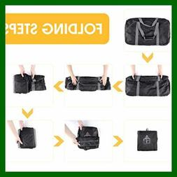"WANDF 28"" Foldable Duffle Bag 80L for Travel Gym Sports Ligh"