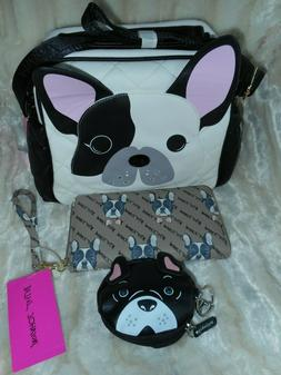 french bulldog boston terrier crossbody bag lunch