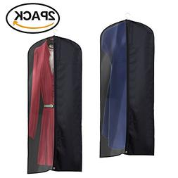 La Saveur 2 Pack 60 inch Garment Bags, Extra Long for Dresse
