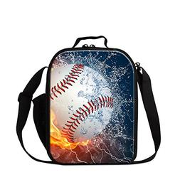 Generic Sports Baseball Print Insulated Lunch Bag for Studen