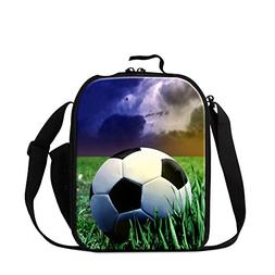 Generic Sports Football Print Kids Lunch Bag Soccer Lunch Co