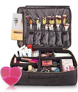 habe X Large Travel Makeup Bag - CRACK-PROOF Dividers – Ul
