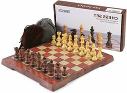 Hand Crafted Wooden Magnetic Chess Board Folding New Chessbo
