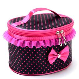 DZT1968 Handle Large Cosmetic Bag Travel Makeup Organizer Ca