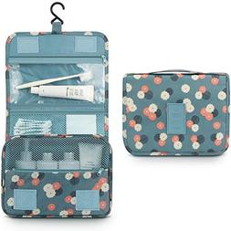 Hanging Toiletry Bag,Mossio Vintage Zippered Jewelry Digital