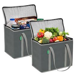Insulated Grocery Shopping Bags , X-Large, Premium Quality C