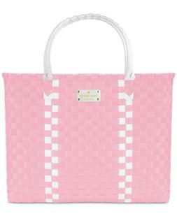 Kate Spade fragrances pink and white stripe X Large Tote/ we