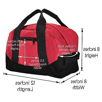 """12"""" Duffel Duffle Travel Sports Gym Mini Carry-on Small Two Tone"""