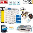 15pc Vacuum Storage Bags Space Saver + Hand Pump For Travel