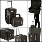 2 Pcs Lightweight Luggage Set Suitcase Bag Rolling Tote Tour