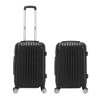 """20"""" Expandable ABS Carry On Luggage Travel Bag Trolley Suitc"""