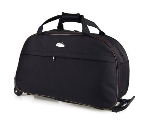 """24"""" Rolling Wheeled Bag Tote Carry Travel Luggage Lightweight"""