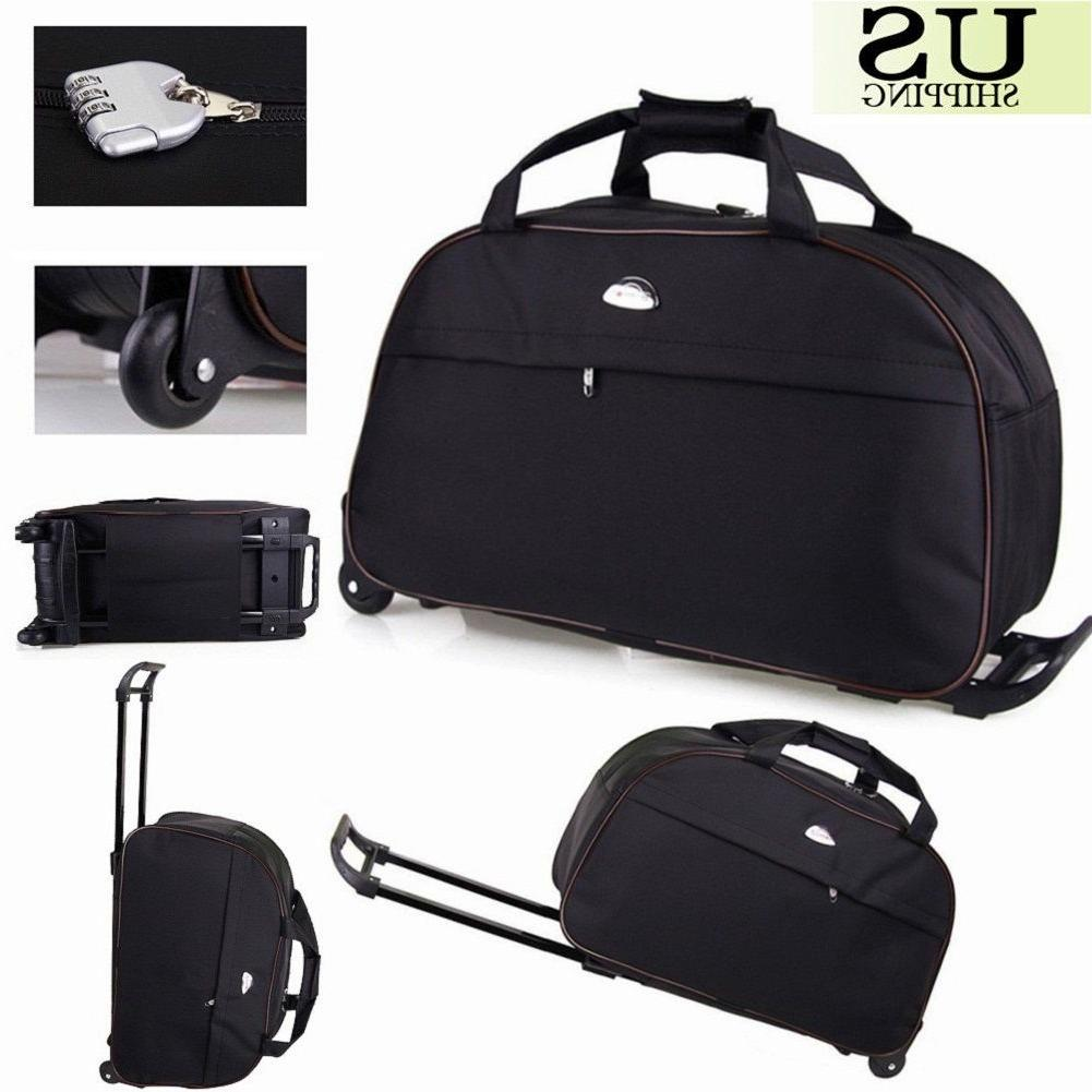 """24"""" Duffle Trolley Tote On Suitcase"""