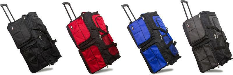 """28"""" Large Polyester Rolling Duffel Wheeled Luggage Suitcase"""