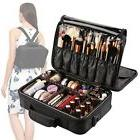 VASKER 3 Layers Waterproof Makeup Bag Travel Cosmetic Case B