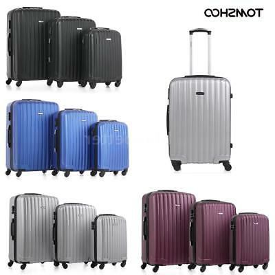 "3 Pcs 20/24/28"" Luggage Travel Set Bag ABS Trolley + Locks S"